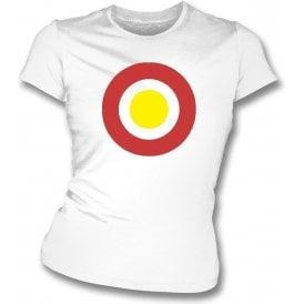Partick Thistle Classic Mod Target Womens Slim Fit T-Shirt