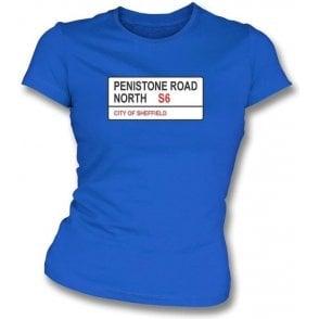 Penistone Road S6 Women's Slimfit T-Shirt (Sheffield Wednesday)