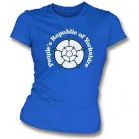 People's Republic Of Yorkshire (Leeds United) Womens Slim Fit T-Shirt