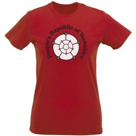 People's Republic Of Yorkshire (Rotherham United) Womens Slim Fit T-Shirt