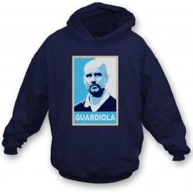 Pep Guardiola - Hope Poster (Manchester City) Kids Hooded Sweatshirt