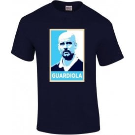 Pep Guardiola - Hope Poster (Manchester City) T-Shirt