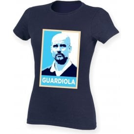 Pep Guardiola - Hope Poster (Manchester City) Womens Slim Fit T-Shirt