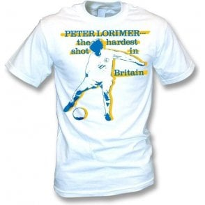 Peter Lorimer - The Hardest Shot in Britain t-shirt