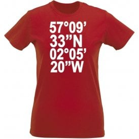 Pittodrie Stadium Coordinates (Aberdeen) Womens Slim Fit T-Shirt