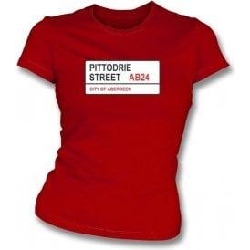 Pittodrie Street AB24 Women's Slimfit T-Shirt (Aberdeen)