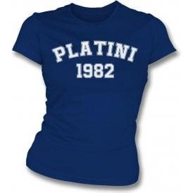 Platini 1982 (France) Womens Slim Fit T-Shirt