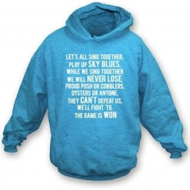 Play Up Sky Blues (Coventry City) Kids Hooded Sweatshirt