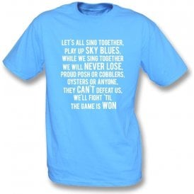 Play Up Sky Blues (Coventry City) Kids T-Shirt