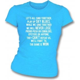 Play Up Sky Blues (Coventry City) Womens Slim Fit T-Shirt