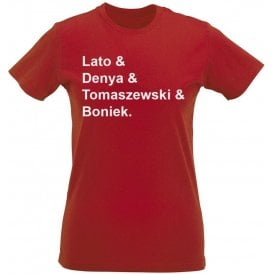 Poland World Cup 1978 Womens Slim Fit T-Shirt