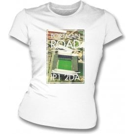 Portman Road IP1 2DA (Ipswich) Women's Slim Fit T-shirt