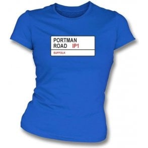 Portman Road IP1 Women's Slimfit T-Shirt (Ipswich Town)