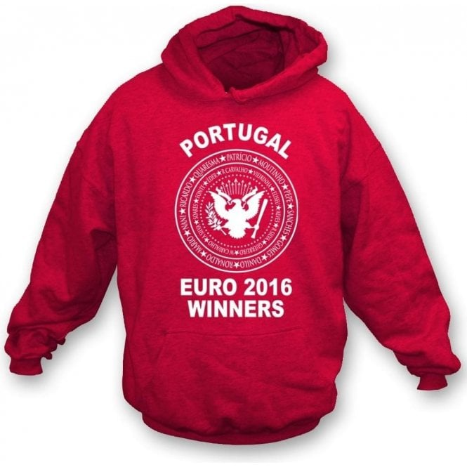 Portugal Euro 2016 Winners (Ramones Style) Hooded Sweatshirt