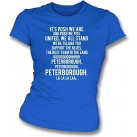 Posh We Are (Peterborough United) Womens Slim Fit T-Shirt
