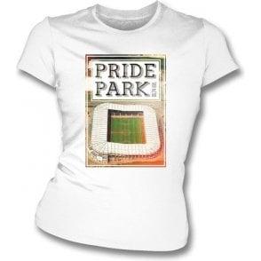 Pride Park DE24 8XL (Derby County) Womens Slimfit T-Shirt