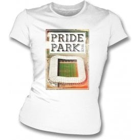 Pride Park DE24 8XL (Derby County) Womens Slimfit T-Shirt