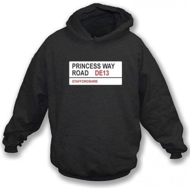 Princess Way Road DE13 Hooded Sweatshirt (Burton Albion)