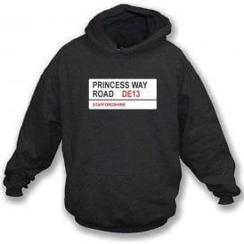 Princess Way Road DE13 Hooded Sweatshirt (Burton Albion)
