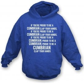 Proud To Be A Cumbrian (Carlisle United) Kids Hooded Sweatshirt