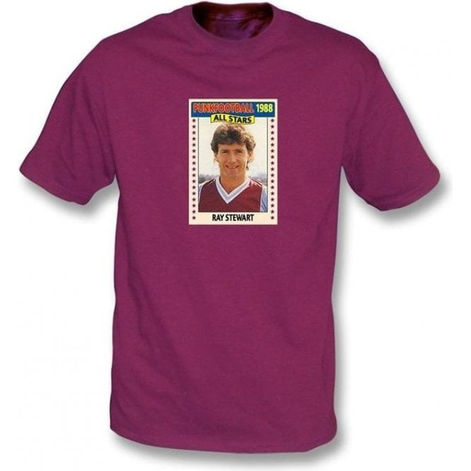 Ray Stewart 1988 (West Ham) Maroon T-Shirt