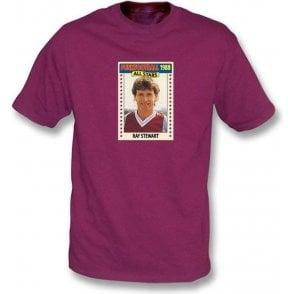 Ray Stewart 1988 (West Ham) Maroon T-Shirt
