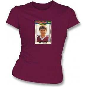 Ray Stewart 1988 (West Ham) Maroon Women's Slimfit T-Shirt