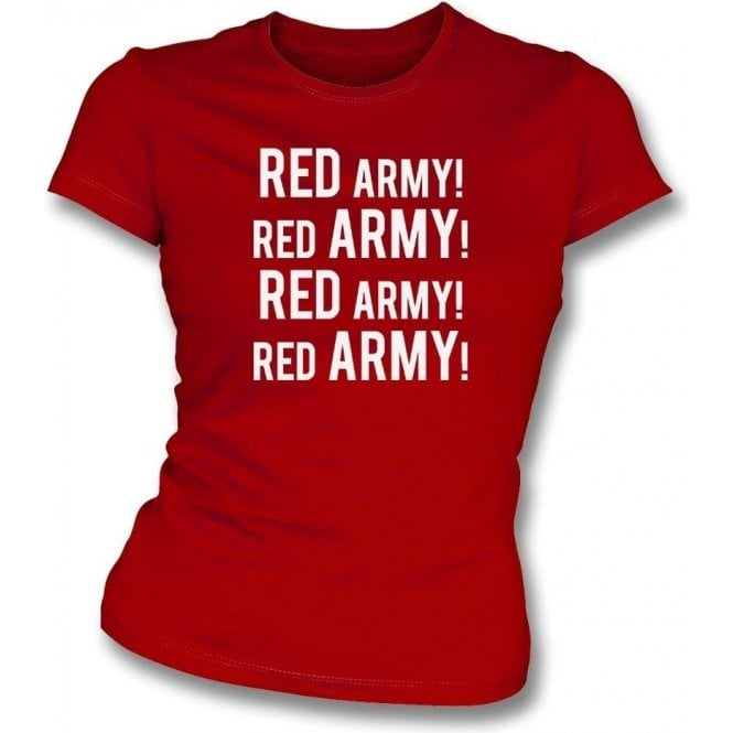Red Army! (Crawley Town) Womens Slim Fit T-Shirt