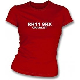 RH11 9RX Crawley Women's Slimfit T-Shirt (Crawley Town)