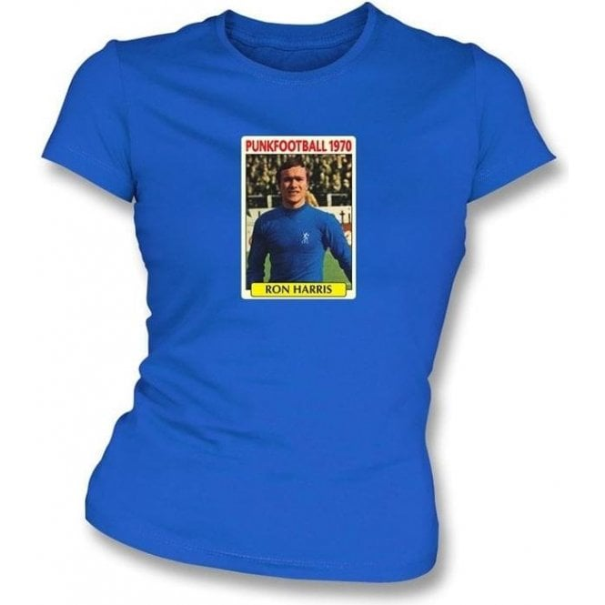 Ron Harris 1970 (Chelsea) Royal Blue Women's Slimfit T-Shirt