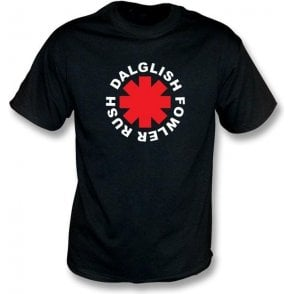 Rush, Fowler, Dalglish Chili Peppers style t-shirt