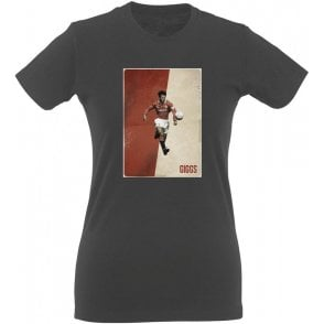 Ryan Giggs (Manchester United) Vintage Poster Vintage Wash Womens Slim Fit T-Shirt