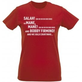 Salah, Salah (Liverpool) Chant Womens Slim Fit T-Shirt