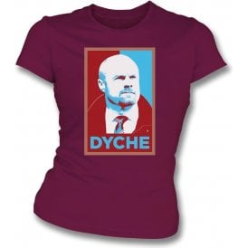 Sean Dyche - Hope Poster (Burnley) Womens Slim Fit T-Shirt