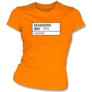 Seasiders Way FY1 Women's Slimfit T-Shirt (Blackpool)