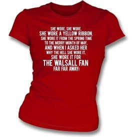 She Wore A Yellow Ribbon (Walsall) Womens Slim Fit T-Shirt