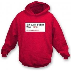 Sir Matt Busby Way M16 Hooded Sweatshirt (Man Utd)