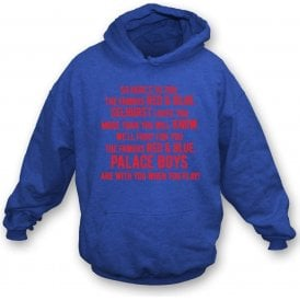 So Here's To You The Famous Red & Blue Hooded Sweatshirt (Crystal Palace)