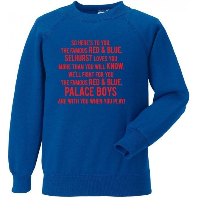 So Here's To You The Famous Red & Blue Sweatshirt (Crystal Palace)