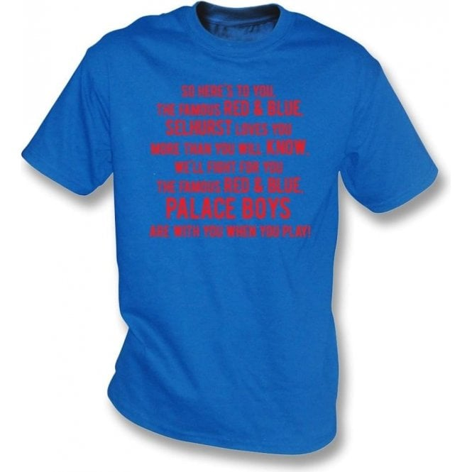 So Here's To You The Famous Red & Blue T-Shirt (Crystal Palace)