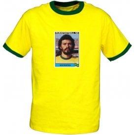Socrates 1986 (Brazil) Yellow Ringer T-Shirt