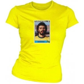 Socrates 1986 (Brazil) Yellow Women's Slimfit T-Shirt