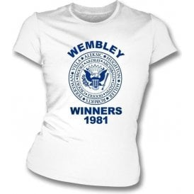 Spurs Wembley FA Cup Winners 1981 Girl's Slim-Fit T-shirt
