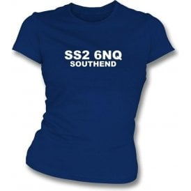 SS2 6NQ Southend Women's Slimfit T-Shirt (Southend)