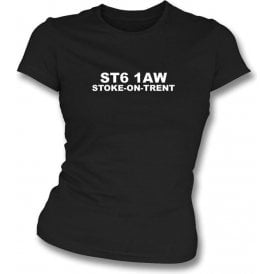 ST6 1AW Stoke-On-Trent Women's Slimfit T-Shirt (Port Vale)