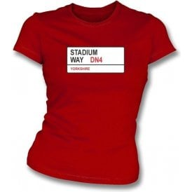 Stadium Way DN4 Women's Slimfit T-Shirt (Doncaster Rovers)