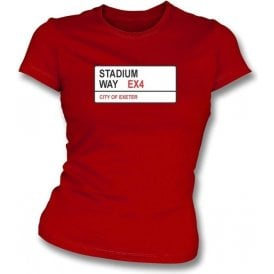 Stadium Way EX4 Women's Slimfit T-Shirt (Exeter City)