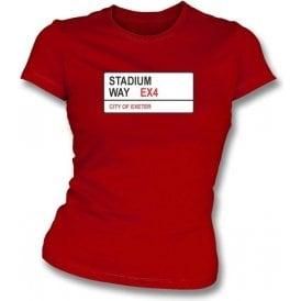 Stadium Way EX4 Women's Slimfit T-Shirt (Exeter City)