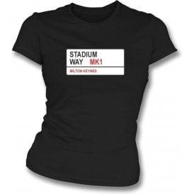 Stadium Way MK1 Women's Slimfit T-Shirt (MK Dons)