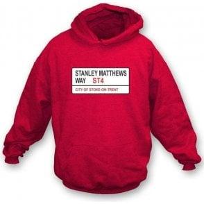 Stanley Matthews Way ST4 Hooded Sweatshirt (Stoke City)